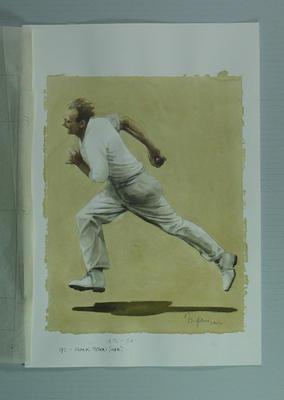 Watercolour, Frank Tyson, by artist Robert Ingpen 2002, MCC Tapestry no. 92; Artwork; M10354