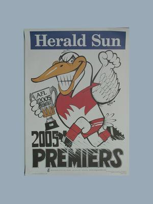 Poster, 2005 WEG AFL Premiers - Sydney Swans