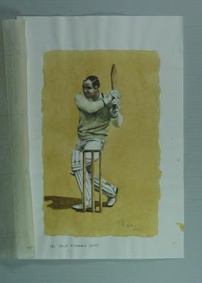 Watercolour, Colin McDonald, by artist Robert Ingpen 2002, MCC Tapestry no. 94; Artwork; M10356