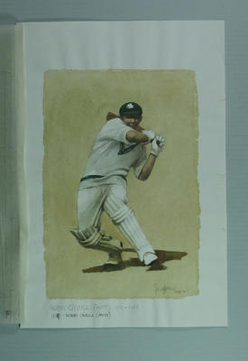 Watercolour, Norman O'Neill, by artist Robert Ingpen 2002,  MCC Tapestry no.109; Artwork; M10373