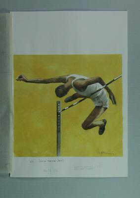 Watercolour, Charles Porter, by artist Robert Ingpen 2002, MCC Tapestry no. 102; Artwork; M10366