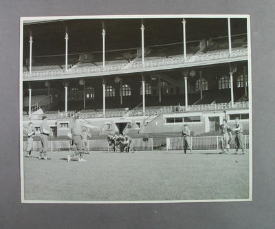 MCC Baseball Section practising on the MCG,  c.early 1950s