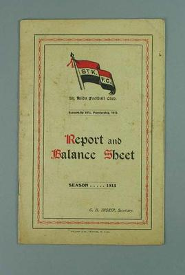 St Kilda FC Annual Report, season 1913