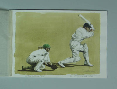 Watercolour, W A S Oldfield & W R Hammond, by artist Robert Ingpen 2001, MCC Tapestry nos. 49 & 50; Artwork; M10313