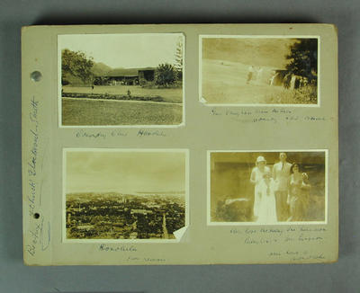 Photograph album, Australian cricket tour of Canada and the United States - 1932