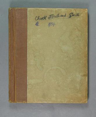 Photograph album assembled by Leslie Fleetwood-Smith, 1934 Australian XI tour of England