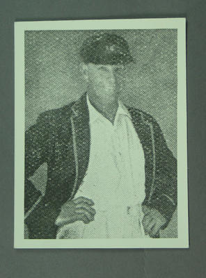 Copy of photograph of cricketer H Ironmonger