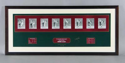 "Print, ""Dennis Lillee: Frame by Frame"" - 1981 Ashes series; Artwork; Framed; M14957"