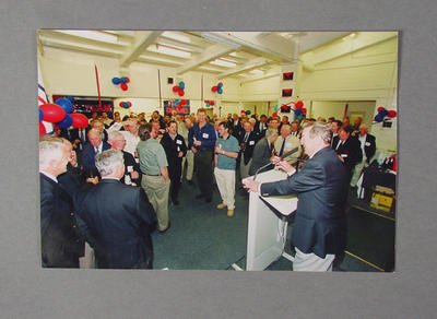 Photograph depicting final Melbourne FC function in Great Southern Stand change rooms, 25 Sept 2003