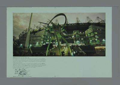 """Poster, """"Melbourne Australia: city of the southern skies""""; Documents and books; M14966"""