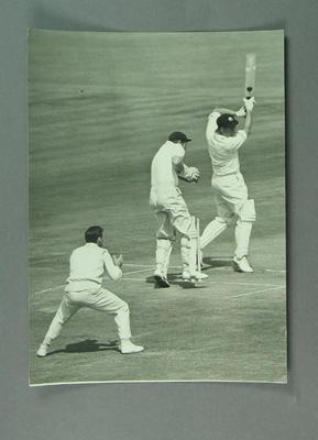 Photograph of Peter Burge batting, England v Australia Test match - Leeds, 1964