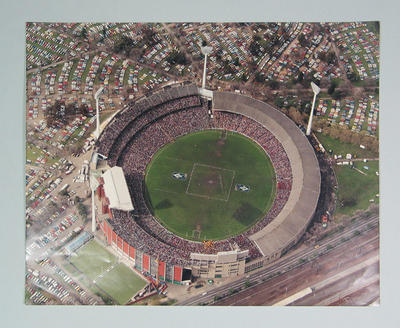 Aerial photograph of Melbourne Cricket Ground, 1984 VFL Grand Final