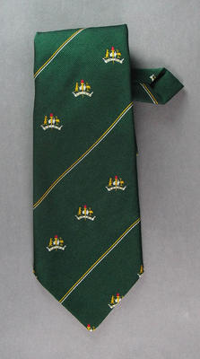 Tie, worn by 1956 Olympic Games volunteer Alby Slade