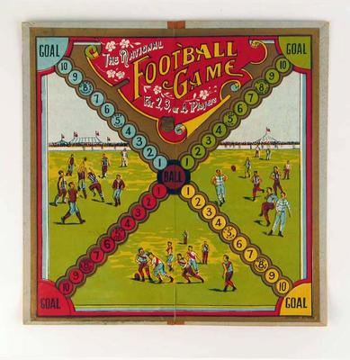 "Board game, ""The National Football Game"" c1910"