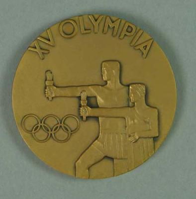 1952 Helsinki Olympics Commemorative Medallion