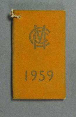 Membership ticket, Marylebone Cricket Club - 1959