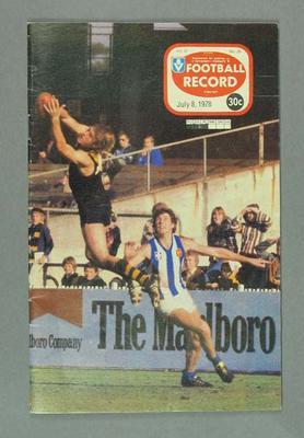 Football Record, 8 July 1978