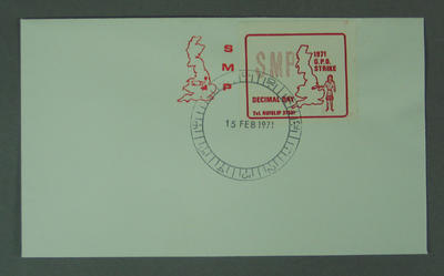 First day cover, 1971 British Postal Strike