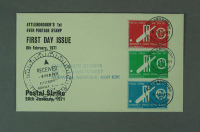 First day cover, 1971 British Postal Strike; Philatelics and currency; M5630.2