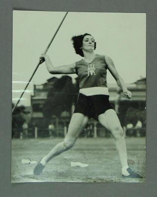 Action photograph of Elsie Jones, 1938