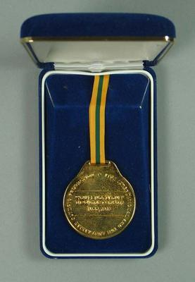 Medallion commemorating launch of 1988 Australian Olympic team song