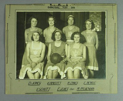 Photograph of VRI Women's basketball team, 1933; Photography; 2005.4213.12