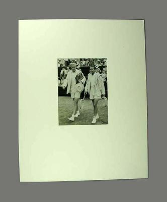 Photograph - Jack Bromwich and Adrian Quist, Davis Cup 27/12/46 - The Argus; Photography; 1993.2870.1
