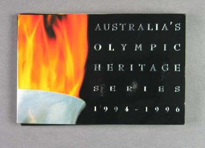 Folder, contains details of Olympic Heritage coin issue 1994-96