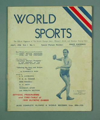 """Issue of """"World Sports"""", vol 1 no 3"""