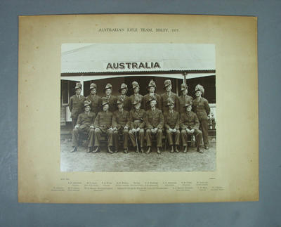 Photograph - Australian Rifle Team, Bisley, 1937