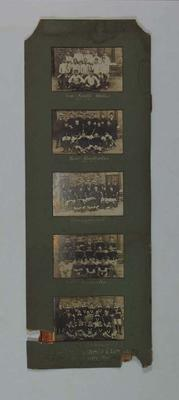 Mounted team photographs from Interstate Lacrosse Carnival, 1910