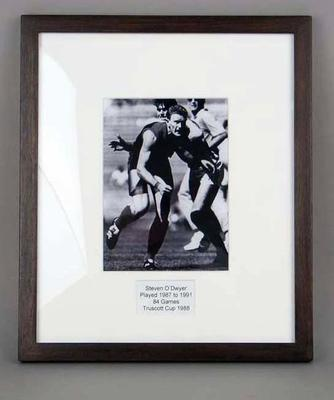 Photograph of Steven O'Dwyer, Truscott Cup 1988; Photography; M15098