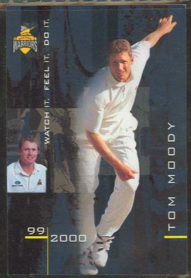 1999/2000 Western Warriors cricket team Tom Moody trade card