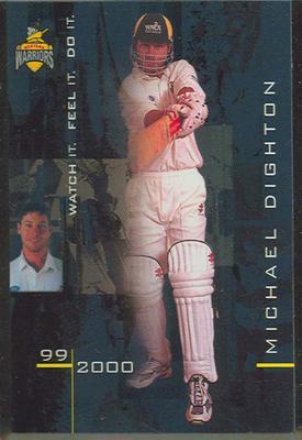 1999/2000 Western Warriors cricket team Michael Dighton trade card