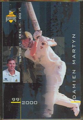 1999/2000 Western Warriors cricket team Damien Martyn trade card