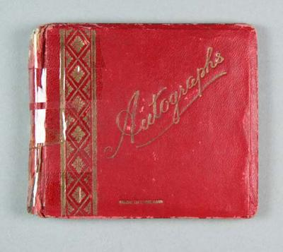Red Autograph book 1955-58 with some 1956 OG athlete signatures
