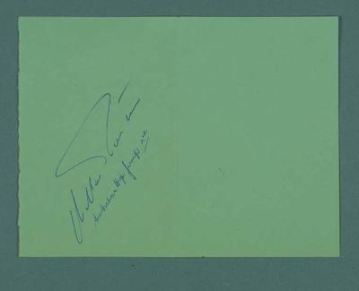 Autograph of Charles Porter, 1956 Olympic Games high jump silver medallist