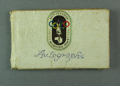 Autograph book, 1956 Melbourne Olympic Games
