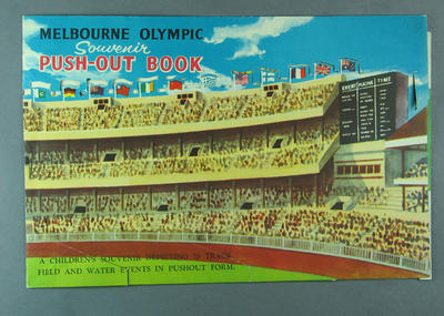 1956 Olympic Games Push Out Book