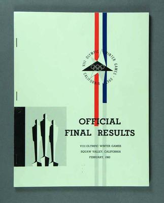 Official Final Results, VIII Olympic Winter Games