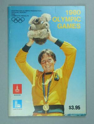 Australian Olympic Federation 1980 Olympic Games, official report and complete results