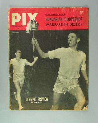 Magazine - Pix, Olympic Preview, dated 24 November 1956 Vol. 43, No.12