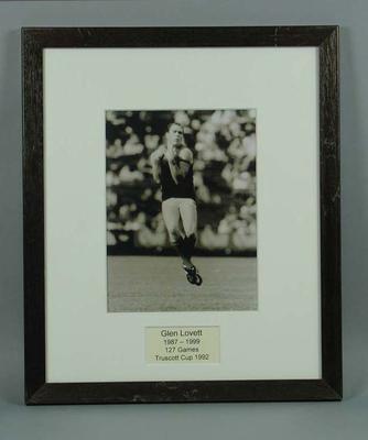 Photograph of Glenn Lovett, Truscott Cup 1992; Photography; M15113