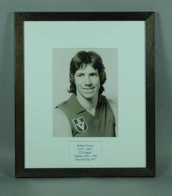 Photograph of Robert Flower, Truscott Cup 1977; Photography; Framed; M15089