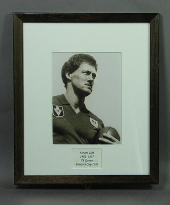 Photograph of Steven Icke, Truscott Cup 1982; Photography; Framed; M15092