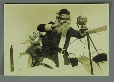 Photograph of Charles Kingsford-Smith dressed as Santa Claus, c1929