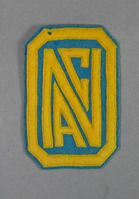 Cloth badge, N A C logo