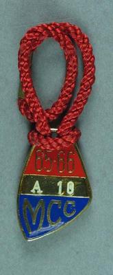 1965-66 MCC membership medallion, issued to Sir Robert Menzies
