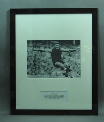 Framed photograph of Ron Barassi