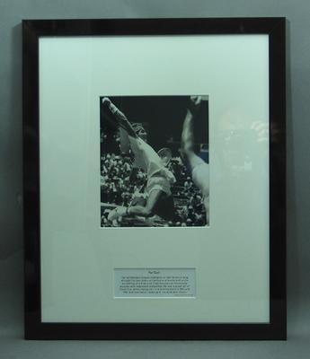 Framed photograph of Pat Cash
